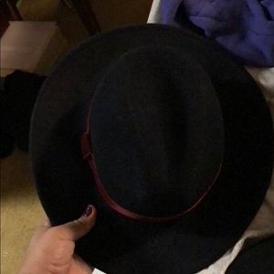Fedora Wool Blend Wide trim